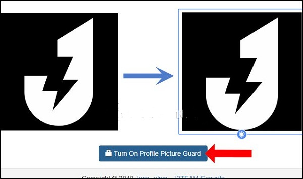 Bạn click chuột vào Turn On Profile Picture Guard