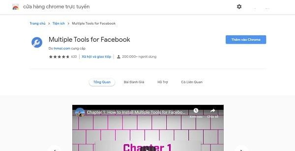 Tải ứng dụng Multiple Tools For Facebook để hỗ trợ quá trình bật khiên